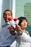 Couples intelligents de cadre d'entreprise Image stock