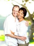 Couples Inter-married d'Asiatique et de Caucasien Photos libres de droits