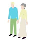 Couples isométriques de différents âges Photos libres de droits