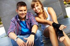 Couples jeunes Photographie stock libre de droits