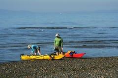 Couples Kayaking photo libre de droits