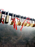 Couples Key on The Great Wall China Stock Photography