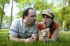 Couples la datte Photographie stock