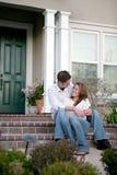 Couples à la maison Photos libres de droits