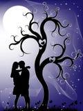 Couples la nuit Images libres de droits