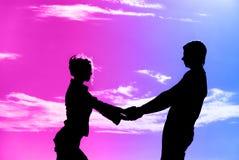 Couples le soir Image libre de droits