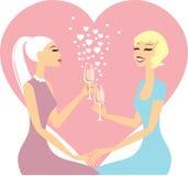 Couples lesbiens dans l'amour Image libre de droits