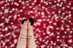 Couples lesbiens heureux dans l'amour Image stock