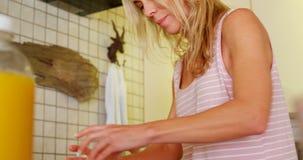 Couples lesbiens préparant la nourriture dans la cuisine 4k banque de vidéos
