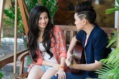 Couples lesbiens vietnamiens Photographie stock