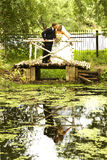 Couples leur jour du mariage Photos stock
