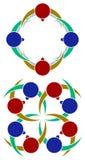 Couples logo set Royalty Free Stock Image
