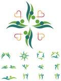 Couples logo set. Line art couples logo set with isolated white background Royalty Free Stock Images