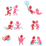 Couples in love as icons Royalty Free Stock Images