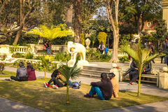 Couples or Love birds at Garden of Dreams in Kathmandu,Nepal Stock Photography