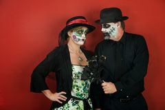 Couples Love on Day of the Dead Royalty Free Stock Photography