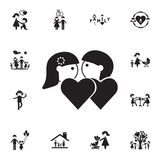 couples in love icon. Detailed set of Family icons. Premium quality graphic design sign. One of the collection icons for websites, royalty free illustration