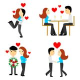 The couples in love. The illustration - set of couples in the style of a flat design Stock Image
