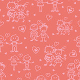 Couples in love seamless pattern background Stock Images