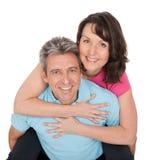 Couples mûrs actifs faisant la forme physique Image libre de droits
