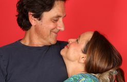 Couples mûrs affectueux Photographie stock