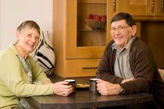 Couples mûrs d'homme plus âgé et de femme Image libre de droits