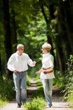 Couples mûrs heureux à l'extérieur Photos libres de droits
