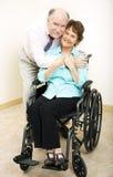 Couples mûrs - invalidité Photos libres de droits