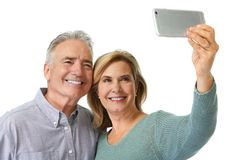 Couples mûrs prenant le selfie photos libres de droits
