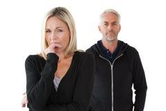 Couples mûrs ayant des problèmes de rapport Photographie stock