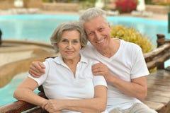 Couples mûrs dans l'amour Photo libre de droits