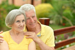 Couples mûrs dans l'amour Photos libres de droits