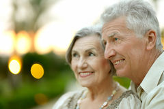 Couples mûrs dans l'amour Image stock
