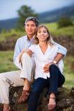 Couples mûrs de Moyen Âge dans l'amour Photo libre de droits