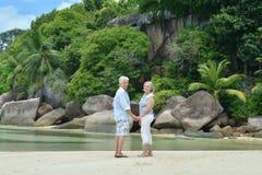 Couples mûrs des vacances Photographie stock
