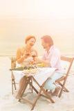 Couples mûrs extérieurs Photographie stock libre de droits