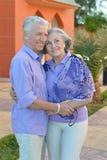 Couples mûrs heureux des vacances Image libre de droits