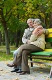 Couples mûrs romantiques Photographie stock