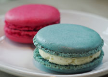 Couples of Macaron Stock Images
