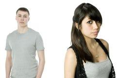 Couples malheureux Photo stock