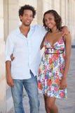 Couples marchant  Images libres de droits