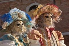 Couples masqués par chat Image libre de droits