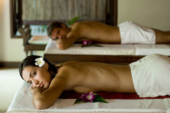 Couples Massage Stock Photo