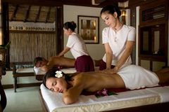 Couples Massage Stock Image