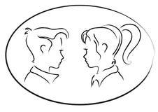 Couples mignons Illustration Stock