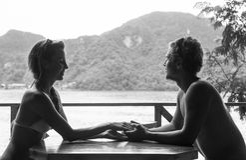 Couples mignons dans l'amour Image stock