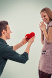 Couples mignons de Valentine Photo libre de droits