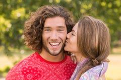 Couples mignons en parc Photo stock