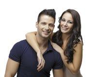 Couples mignons souriant les uns avec les autres Images stock
