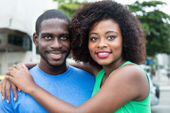 Couples modernes d'amour d'afro-américain Photos stock